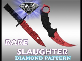 Rare Slaughter pattern - Diamond(M9 and Karambit) HD cs 1.6