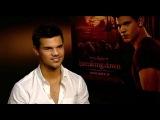 Taylor Lautner The Twilight Saga Breaking Dawn - Part 1 interview