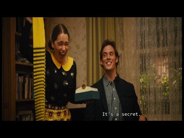 Black and yellow stripes - Louisa Birthday Present - Me Before You (2016) - Emilia Clarke - 1080p