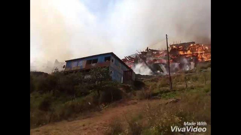 Пожар в Мокок. Цунтинский район.