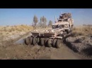 US Marines Tow Truck Recovering MRAP and Logistic Truck Stuck in the Mud