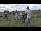 Hungarian Reporter Caught Tripping And Kicking Syrian Refugee Child