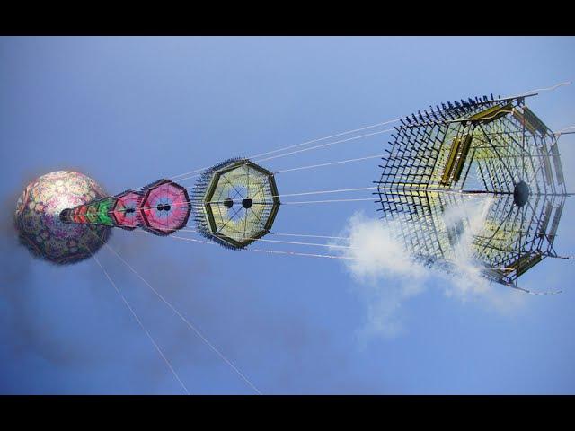 Enorme Balão Fogueteiro Modelado 54 m União São Mateus - Filmagem Costa e Silva