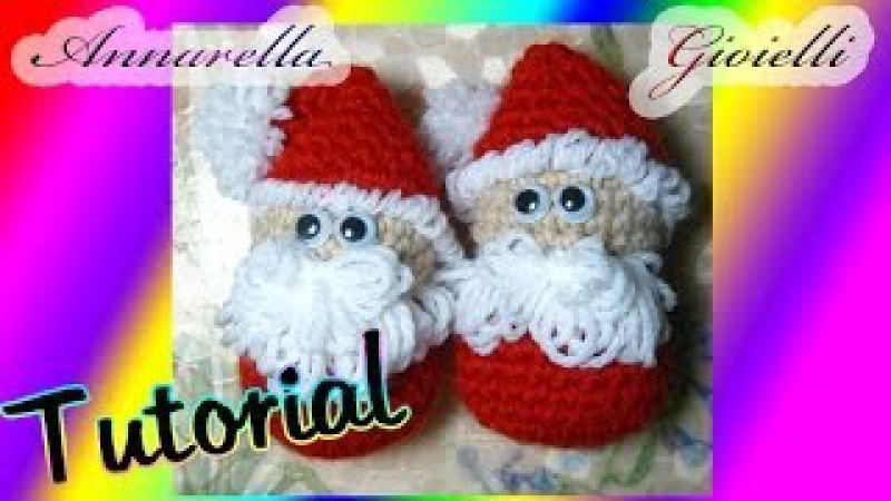 Tutorial amigurumi Babbo Natale uncinetto How to crochet Santa Claus SUB ENG