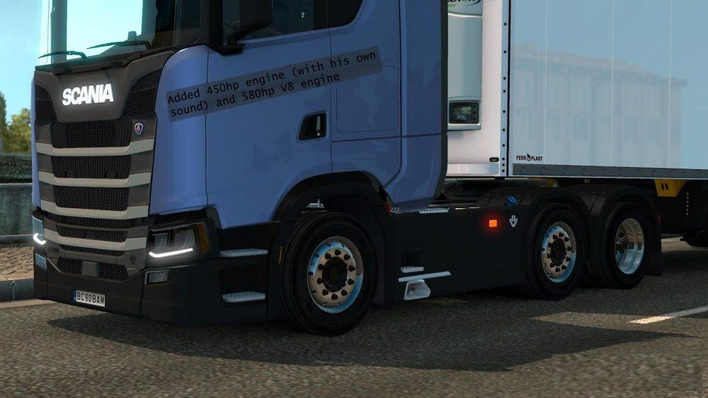 Пластиковые детали и новые двигатели для Scania S