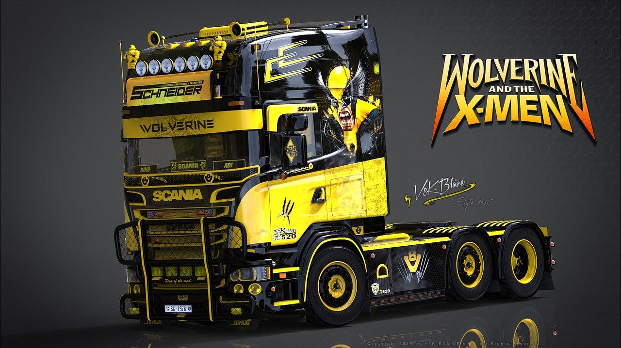 Грузовик Scania R520 Wolverine