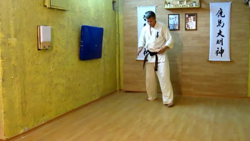 БИЕО Боевая стойка перемещение комплекс (6 движений) -кекусинкай каратэ -бокс - муай тай -ММА