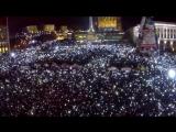 Майдан 1 января 2014 года.500 000 Украинцев.Гимн Украины.
