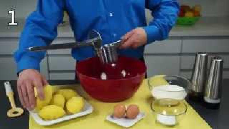 Рецепт от TESCOMA. Картофельные оладьи