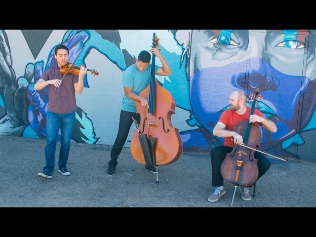 Simply Three Chained to the Rhythm by Katy Perry violin cello bass cover