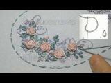 ВЫШИВКА РОЗЫ РОКОКО Hand Embroidery Bullion Knot Stitch