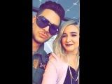 2016-11-28 Adam Lambert on Alisan Porters Snapchat (2 snaps) - Flipped