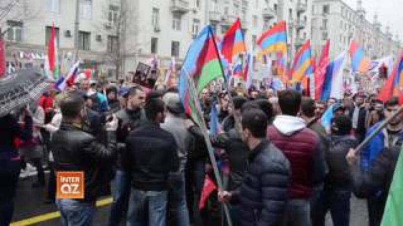 """Moskvada """"Ölümsüz Alay""""—da erməni diasporu növbəti təxribata əl atdı"""