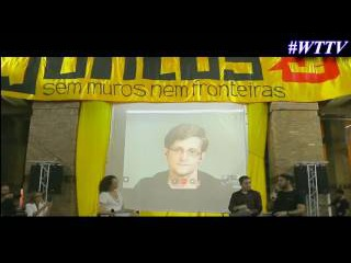 Edward Snowden Interview at Intelligence conference in Rio de Janeiro