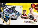 Папа Роб Ярик и Бэтмен играют в 3D каталог ЛЕГО LEGO Конструктор для детей