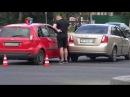 Две легковушки не поделили перекресток в Мариуполе (ФОТО)
