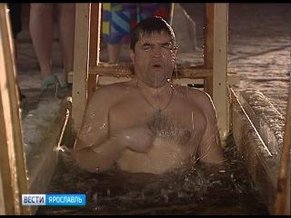 Православные верующие в Ярославле отмечают Крещение Господне