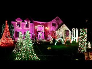 Как американцы украшают дома к Рождеству 2017