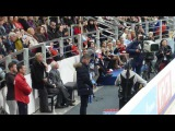 Алексей Урманов у борта, КП Юлии Липницкой Rostelecom Cup 2016