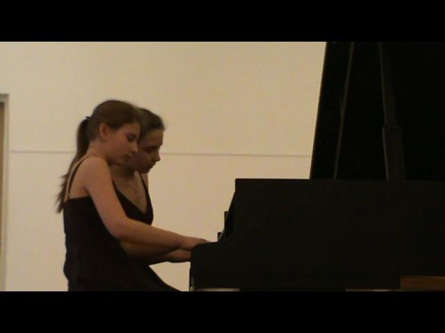 Гапон Наталья и Гапон Мария. Конкурс фортепианных ансамблей