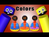 Learn Colors with Kids Games  Nerf Gun Candy Snooker Balls Color Crayons Collection Videos