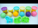 Learn Colors Numbers for Children with Play Doh Ice Cream Elephant Lion Molds Learning for kids