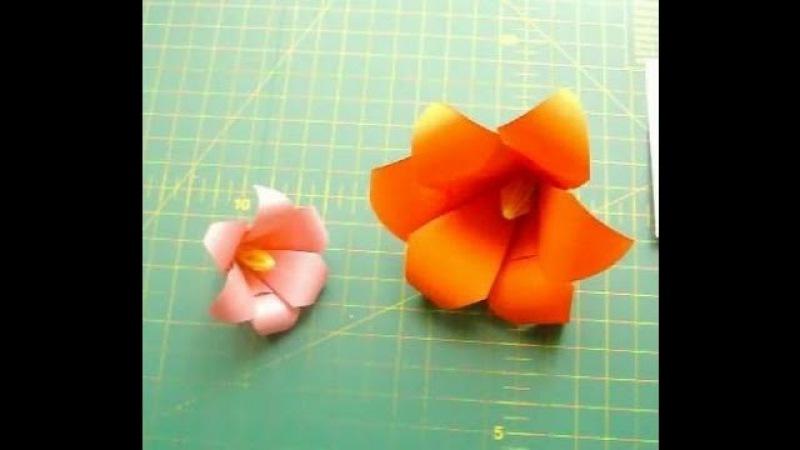 Как Сделать Цветы Лилии из Бумаги Своими Руками Оригами Цветок из 6 Лепестков Ori