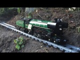 Large/Awesome Lego Train Set. Going through the Garden & House