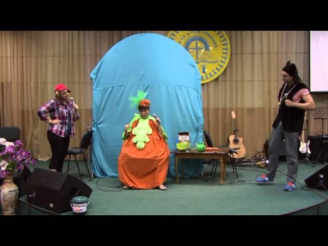 Театральная сценка Репка, церковь Хвала и Поклонение Бровары