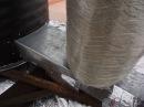Запуск печи Барабан на сырых дровах (эксперимент №2).