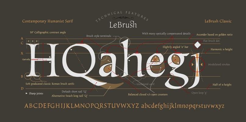 Download LeBrush font (typeface)