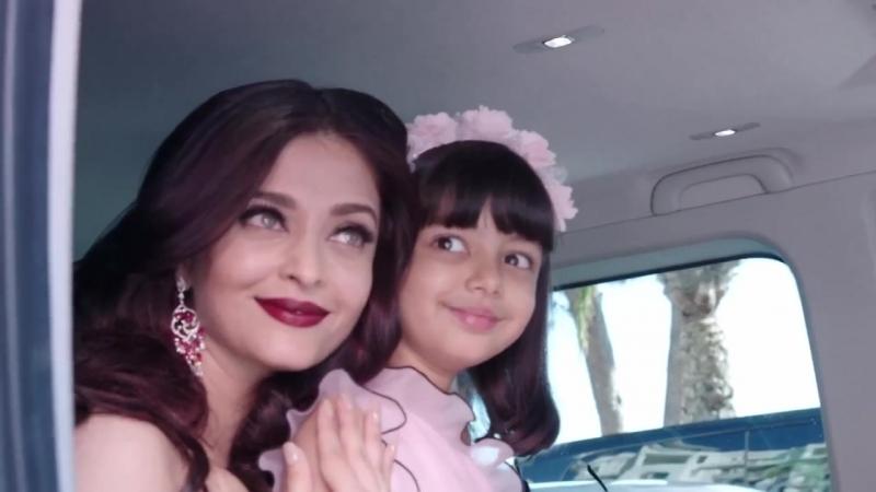 Канны 2017 Айшвария рай Баччан с дочерью Аарадхией L'Oréal Paris