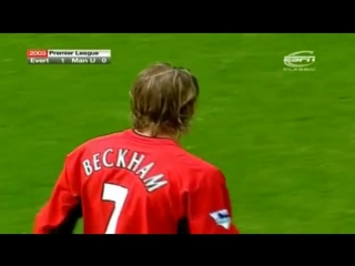 David Beckham Free kick vs Everton
