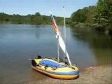 Sevylor U282  k85 Inflatable Boat &amp SailboatsToGo Sail Kit