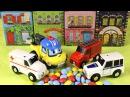Робокар Поли и Полицейские и Пожарные Машинки спасают Машинку с Мороженым. Кинд
