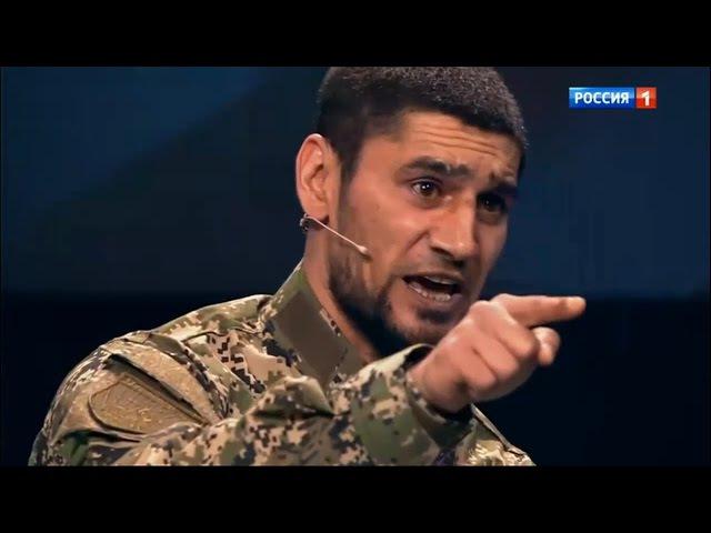 Доброволец ополченец Абдулла затыкает упоротого украинца