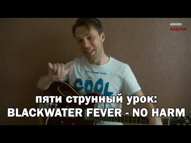 5тиструнный урок как играть на гитаре The Blackwater Fever - No Harm Урок3