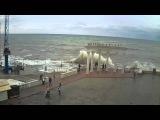 Алушта шторм запись с веб камеры Крым ру