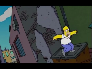 Homer in trouble