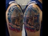 Цветная татуировка Портрет Александра Невского  (colors portrait tattoo )  Дом Элит Тату (Tattoo Studio Moscow)