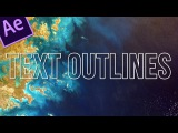 How to outline text in after effects - 2 minute tuts