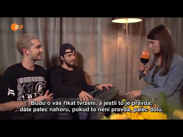 Wetten, dass.. Backstage Interview Tokio Hotel - 03.10.2014 CZ