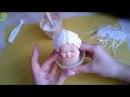 Волосы для авторской куклы из грунтованой пряжи (имитация лепки)/Art doll hair made of gessoed yarn
