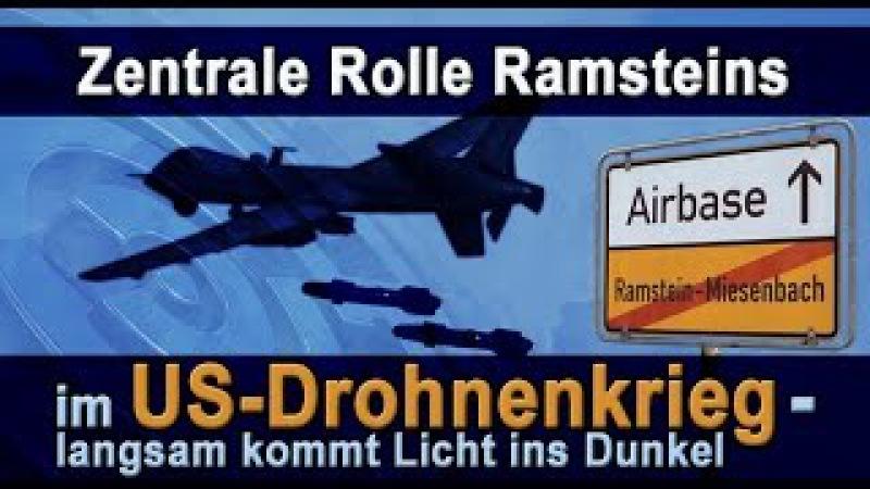 Zentrale Rolle Ramsteins im US-Drohnenkrieg – langsam kommt Licht ins Dunkel | 23.02.2017