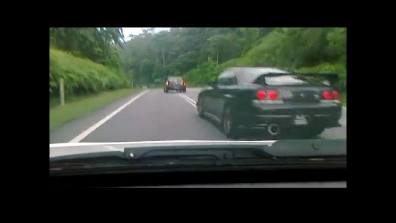 Зацепились на трассе / Road Racing [GT-R R33 vs Evo IX]
