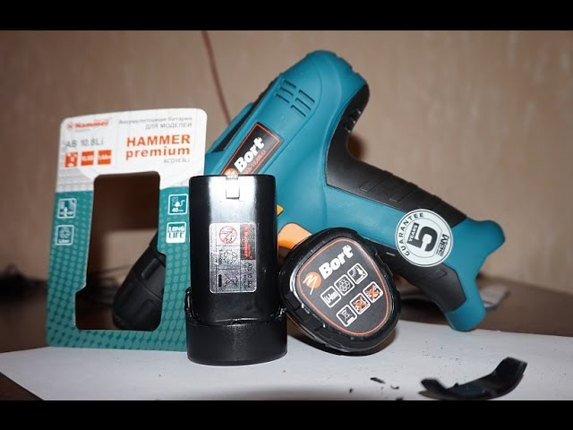 Колхозим из Hammer AB10.8 Li 10.8В Li или Дополнительная батарея для Шуруповерта Bort BAB-10.8N-Li