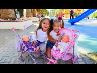 Видео для девочек. Дочки матери: прогулка с куклами и Элис. куклы для девочек