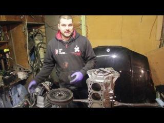 Устанавливаем крышку ГРМ, маховик и шкив коленвала BMW m54