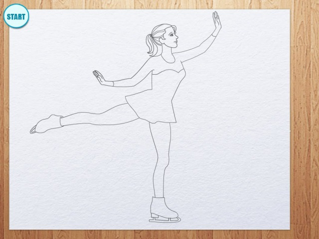 How to draw figure skating