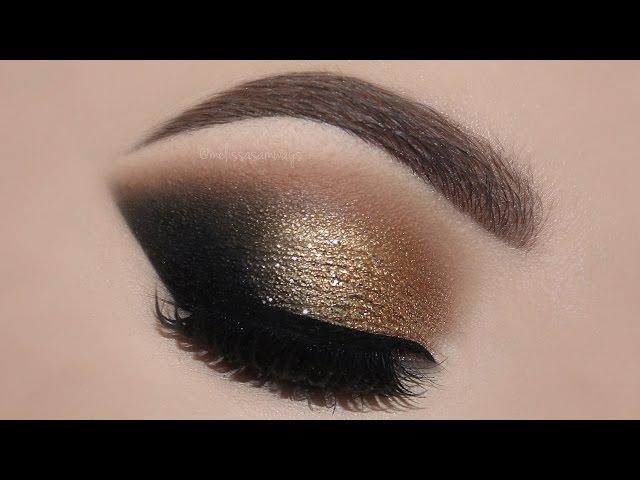 ♡ Gold Glam Cat Smokey Eyes Perfect Skin Makeup Tutorial   Melissa Samways ♡